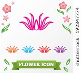lotus flower icons. floral... | Shutterstock .eps vector #192347774