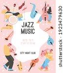vector poster of jazz music at...   Shutterstock .eps vector #1923479630