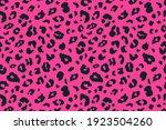 vector trendy leopard skin... | Shutterstock .eps vector #1923504260