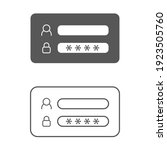 set of login window icon vector....