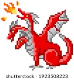 Pixel Monster Character Red...