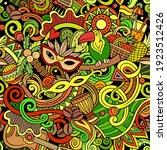 cartoon doodles brazil seamless ... | Shutterstock .eps vector #1923512426