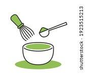 matcha cup vector. symbol.... | Shutterstock .eps vector #1923515213
