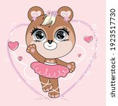 cute little dancing bear with... | Shutterstock .eps vector #1923517730