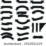 set of red ribbon scrolls. this ... | Shutterstock .eps vector #1923521219
