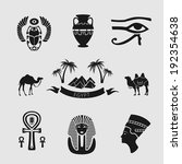 egyptian symbols set for design ...