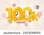 100k or 100000 followers thank... | Shutterstock .eps vector #1923548903