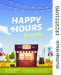 happy hours ad poster for...   Shutterstock .eps vector #1923551090
