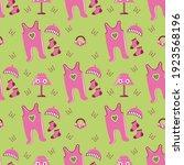 baby girl seamless patterns.... | Shutterstock .eps vector #1923568196