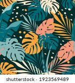 vector seamless pattern with... | Shutterstock .eps vector #1923569489
