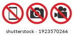no photographing prohibition...   Shutterstock .eps vector #1923570266