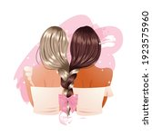 girl friend braid stylish... | Shutterstock .eps vector #1923575960