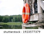 Old Red Inflatable Lifebuoy...