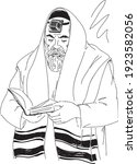 Orthodox  Jewish  Man  Reading...