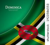 stylish waving flag of dominica ...   Shutterstock .eps vector #1923586553