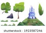 magic blue castle and landscape ... | Shutterstock .eps vector #1923587246