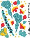 vector vegetables set in... | Shutterstock .eps vector #1923590216