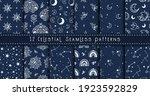 celestial black and white moon  ...   Shutterstock .eps vector #1923592829
