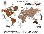 travel map wall art world map... | Shutterstock .eps vector #1923599540