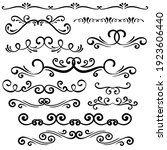 hand drawn curly ornamental... | Shutterstock .eps vector #1923606440