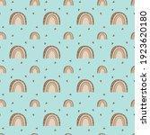 boho rainbow seamless pattern...   Shutterstock .eps vector #1923620180