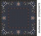 ethnic scarf pattern with... | Shutterstock .eps vector #1923624473