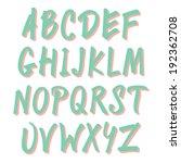 marker font | Shutterstock .eps vector #192362708