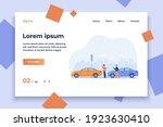 two men having car accident... | Shutterstock .eps vector #1923630410