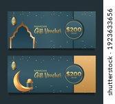 ramadan gift voucher with... | Shutterstock .eps vector #1923633656
