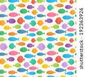 Stock vector the seamless pattern with cute small fishes 192363926