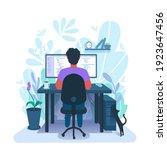 a developer programming. a... | Shutterstock .eps vector #1923647456