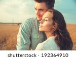 young couple in love outdoor... | Shutterstock . vector #192364910
