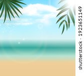 natural sunny palm summer sea ... | Shutterstock .eps vector #1923651149