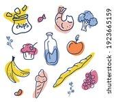 food hand drawn vector...   Shutterstock .eps vector #1923665159