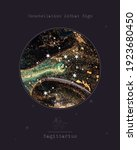 constellation zodiac sign.... | Shutterstock .eps vector #1923680450