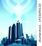 huge growing daily metropolis ...   Shutterstock .eps vector #1923690110