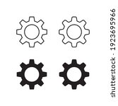gears vector icon. simple flat...   Shutterstock .eps vector #1923695966