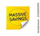 massive savings. sticker note...   Shutterstock .eps vector #1923696590