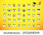 big set of emoticon pandemic... | Shutterstock .eps vector #1923698549