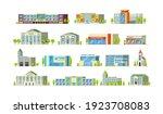 municipal buildings set....   Shutterstock .eps vector #1923708083