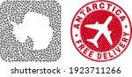 vector mosaic antarctica... | Shutterstock .eps vector #1923711266