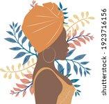 african woman vector portrait....   Shutterstock .eps vector #1923716156