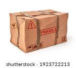 Damaged Shipping Box On White...