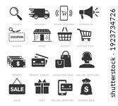 online shopping icons set ... | Shutterstock .eps vector #1923734726