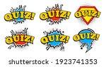 quiz concept. quiz word. vector ... | Shutterstock .eps vector #1923741353