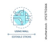 Using Wall Concept Icon. Gym...