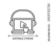 on demand webinar linear icon....   Shutterstock .eps vector #1923752720