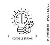 idea generation linear icon.... | Shutterstock .eps vector #1923752729