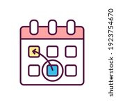 re schedule rgb color icon. re... | Shutterstock .eps vector #1923754670