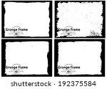 abstract grunge frame set.... | Shutterstock .eps vector #192375584